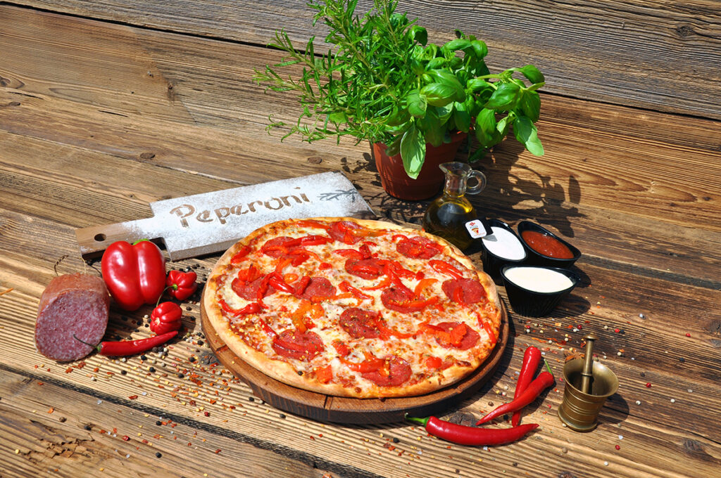 Pizza Peperoni, pizza z salami
